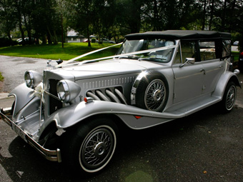 The Silver 1930s Beauford Convertible